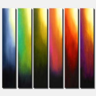 vertical panels abstract painting