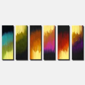 multi panel abstract art