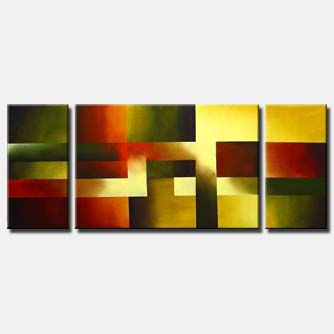 multi panel abstract art aquares