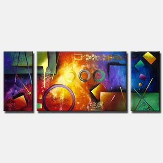 pool table abstract painting