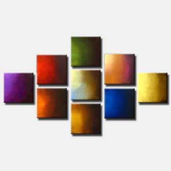 multi panel solid colors painting