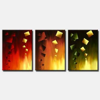 triptych wall decor abstract