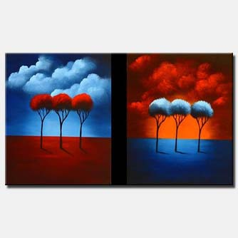 diptych red blue