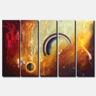 multi panel canvas large abstract