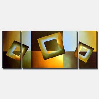 triptych geometrical painting