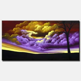 clouds landscape painting