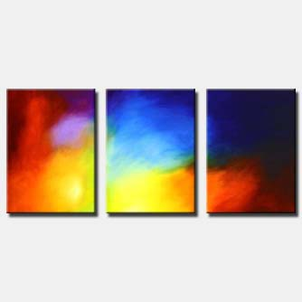 triptych colorful painting