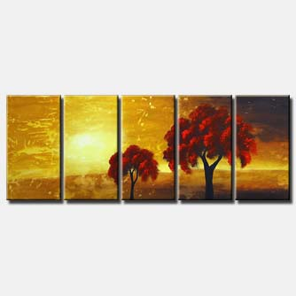 red trees canvas art
