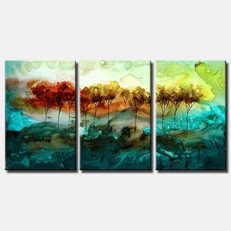 multi panel canvas forest