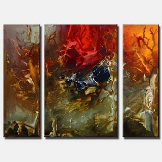 triptych canvas modern painting