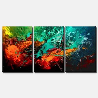 triptych art abstract universe