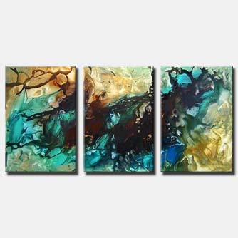 triptych canvas seascape art