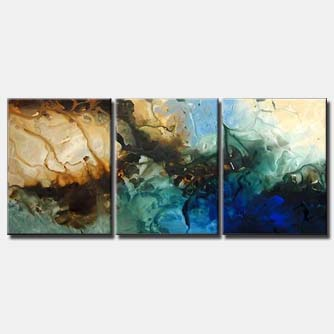 triptych canvas large abstract