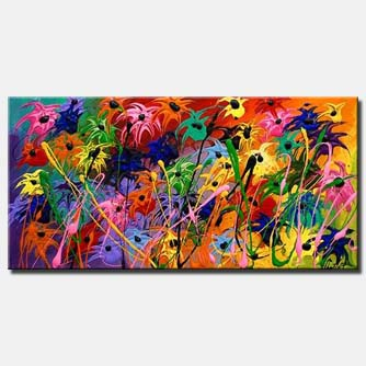 modern flowers painting