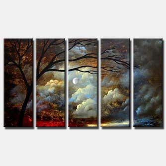 multi panel canvas clouds painting