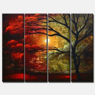 stormy skies multi panel canvas