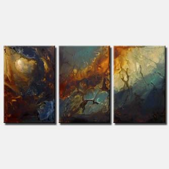 triptych large canvas seascape