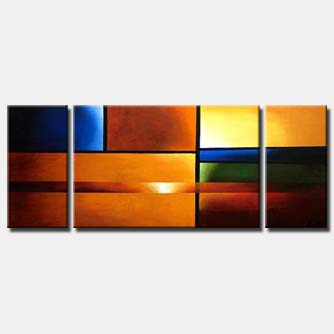 triptych abstract canvas