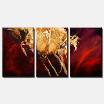 triptych red