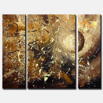 triptych canvas moon painting