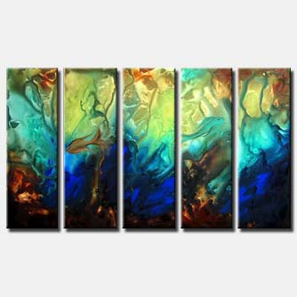 multi panel wall painting
