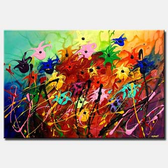 colorful flowers painting