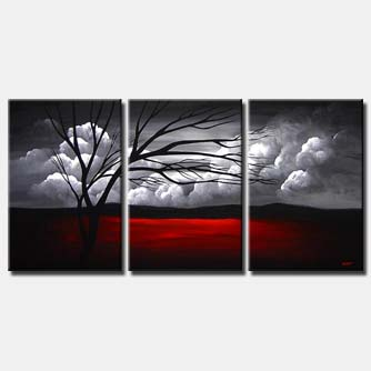 multi panel canvas clouds