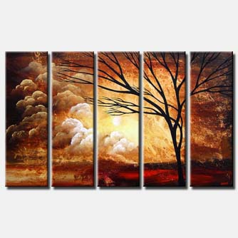 brown sunrise multi panel