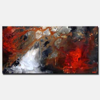 abstract storm painting