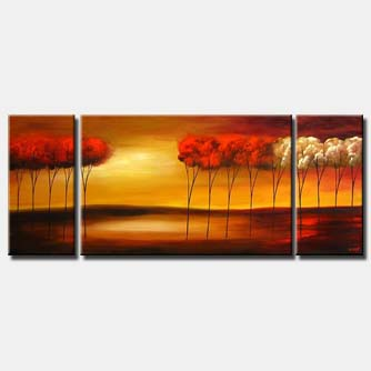 sunrise canvas landscape triptych