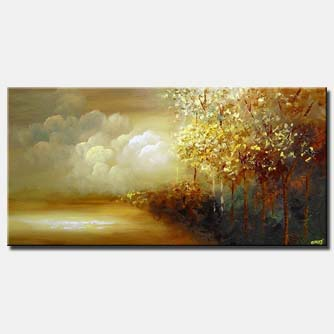 beautiful forest by the sea canvas landscape
