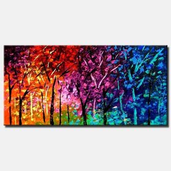 bold colorful forest
