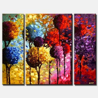 colorful dancing trees