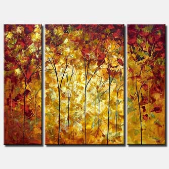 abstract painting of the autumn
