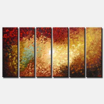 multi panel blooming canvas