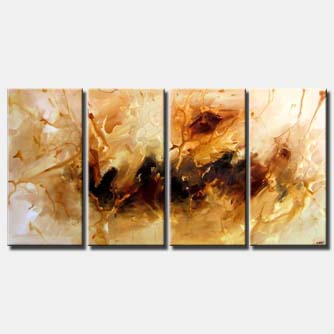 brown abstract multi panel