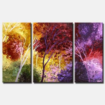 lavender purple abstract forest