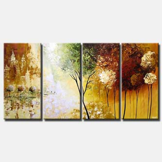 multi panel canvas landscape trees