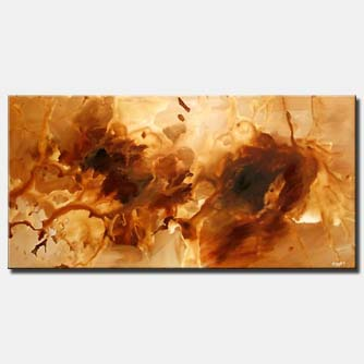 brown abstract art splash monochromatic
