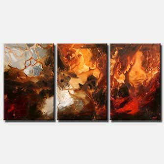 triptych abstract painting wall decor