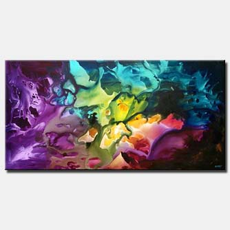 lavender abstract canvas art colorful