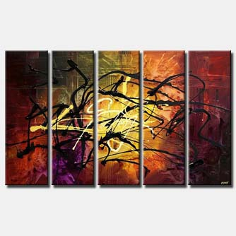 splash multi panel canvas colorful abstract