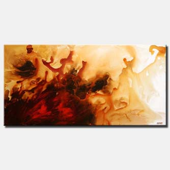large sandy modern painting soft splash
