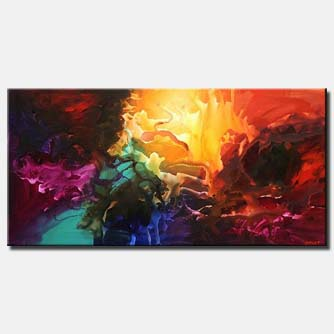 bold colorful modern painting splash
