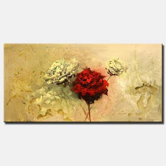 large roses painting minimal art