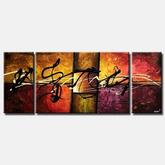abstract splash art multi panel colorful
