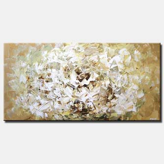 large white flower soft abstract art