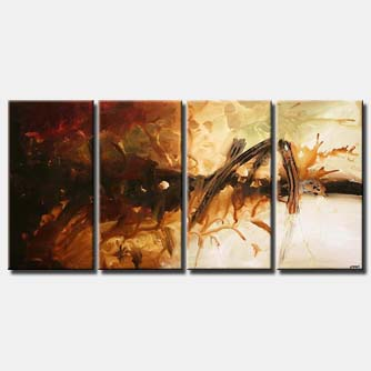 multi panel modern painting dark light