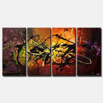 modern splash art multi panel colorful