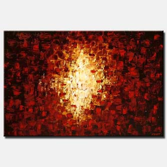 the gate red abstract home decor